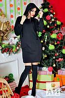 Платье теплое с капюшоном 02/124