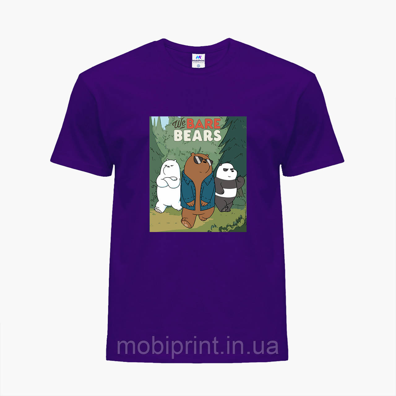 Дитяча футболка для хлопчиків Вся правда про ведмедів (We Bare Bears) (25186-2664-PU) Фіолетовий