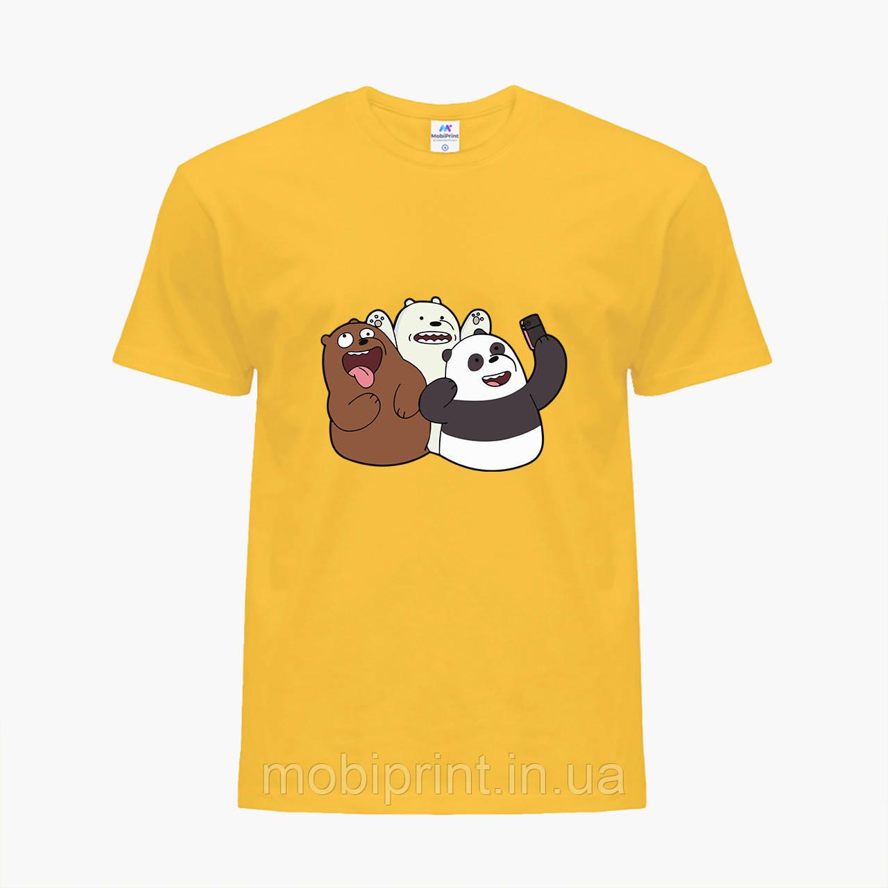 Дитяча футболка для хлопчиків Вся правда про ведмедів (We Bare Bears) (25186-2665-SY) Жовтий