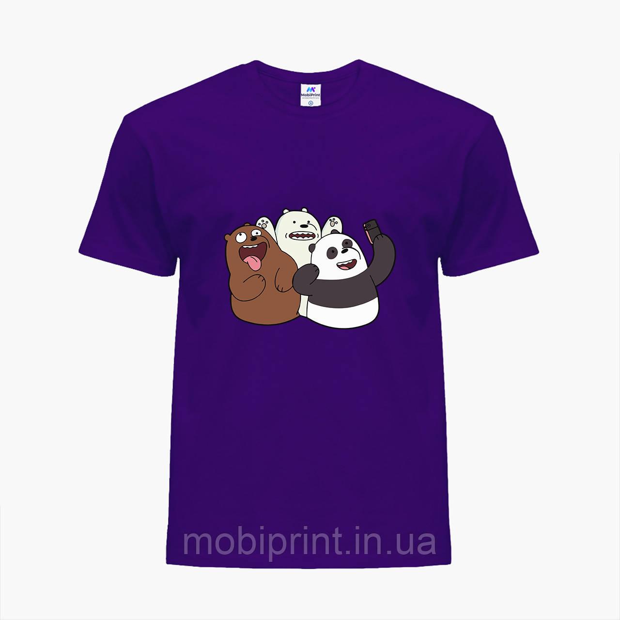 Детская футболка для мальчиков Вся правда о медведях (We Bare Bears) (25186-2665-PU) Фиолетовый
