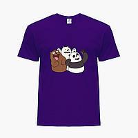 Детская футболка для мальчиков Вся правда о медведях (We Bare Bears) (25186-2665-PU) Фиолетовый, фото 1