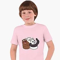 Детская футболка для мальчиков Вся правда о медведях (We Bare Bears) (25186-2665-PK) Розовый, фото 1