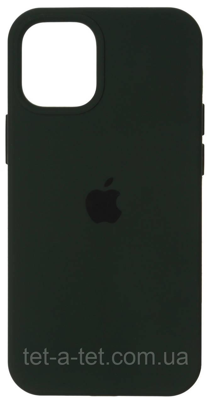 Чехол силиконовый для Apple iPhone 12/12 Pro Silicone Case (High Copy) Cyprus Green (Темно-Зеленый)