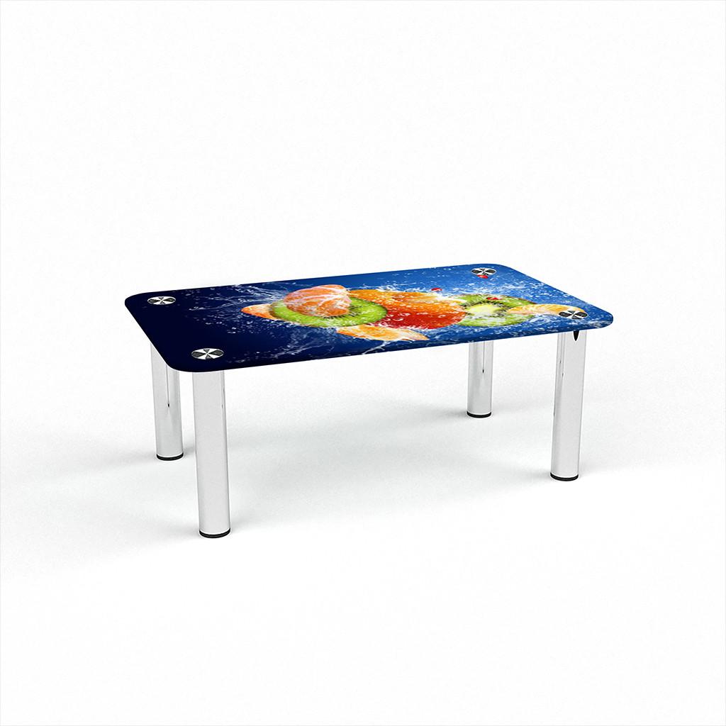 Стеклянный  стол журнальный столик из стекла БЦ Стол Прямоугольный с фотопечатью Sweet Mix