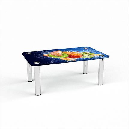 Стеклянный  стол журнальный столик из стекла БЦ Стол Прямоугольный с фотопечатью Sweet Mix, фото 2