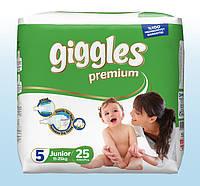Подгузники детские  Giggles Premium, Junior (5), 11-25кг, Twin, 25 шт.