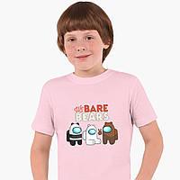 Дитяча футболка для хлопчиків Вся правда про ведмедів (We Bare Bears) (25186-2668-PK) Рожевий, фото 1