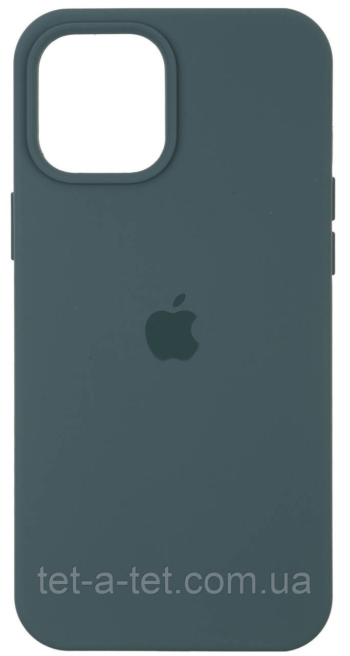 Чехол силиконовый для Apple iPhone 12/12 Pro Silicone Case (High Copy) - Pine Green (Сосновый Зеленый)