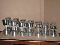 Гантельний ряд оцинкований від 10 до 22 кг, фото 1