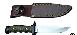 Нож Muela с фикс.клинком Лось рук. пласт, кож.чехол (04/7102R) (DA)