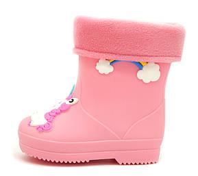 Резиновые сапоги Для девочек Розовый Размеры: 24,25,26,27,28, фото 2