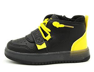Демисезонные кроссовки Для мальчиков Черно-желтый Размеры: 21,22,23,24,25,26, фото 2
