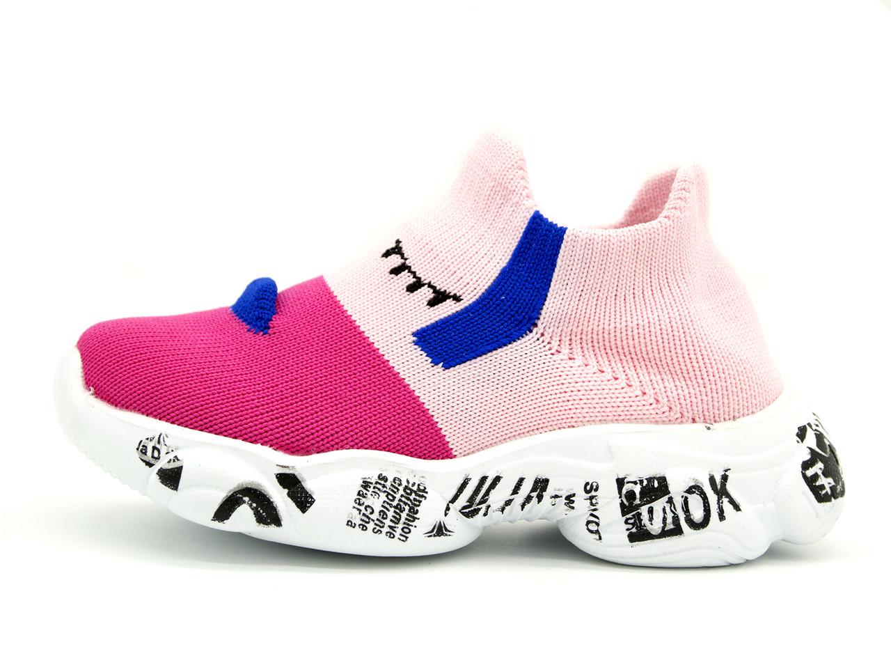 Кроссовки Для девочек Розовый Размеры: 21,22,23,24,25,26