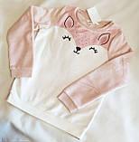 Флісовий джемпер світшот для дівчинки H&M на зріст 110-116 см (4-6 років), фото 3