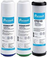 Комплект картриджей для фильтра обратного осмоса Ecosoft CRV-3E-CO