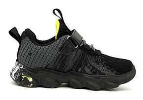 Кроссовки Для мальчиков Черный с разноцветными вставками Размеры: 32,33,34,35,36,37, фото 2