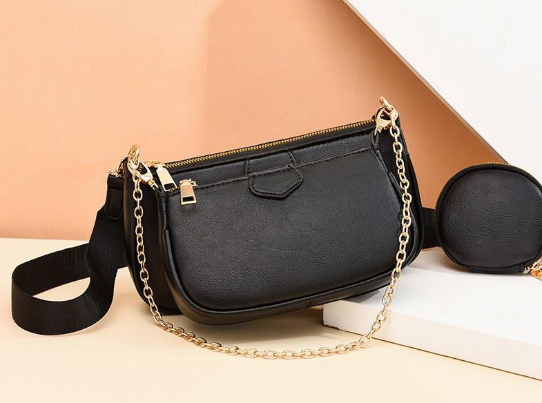 Модная женская сумка кросс-боди, клатч, кошелек для монет, комплект 3 в 1