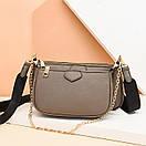 Модная женская сумка кросс-боди, клатч, кошелек для монет, комплект 3 в 1, фото 2