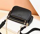 Модная женская сумка кросс-боди, клатч, кошелек для монет, комплект 3 в 1, фото 6