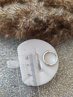 Серебряные серьги- кольца с фианитами