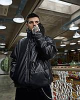 Куртка демісезонна чоловіча Пушка Огонь Yard з екокожі чорна, фото 1
