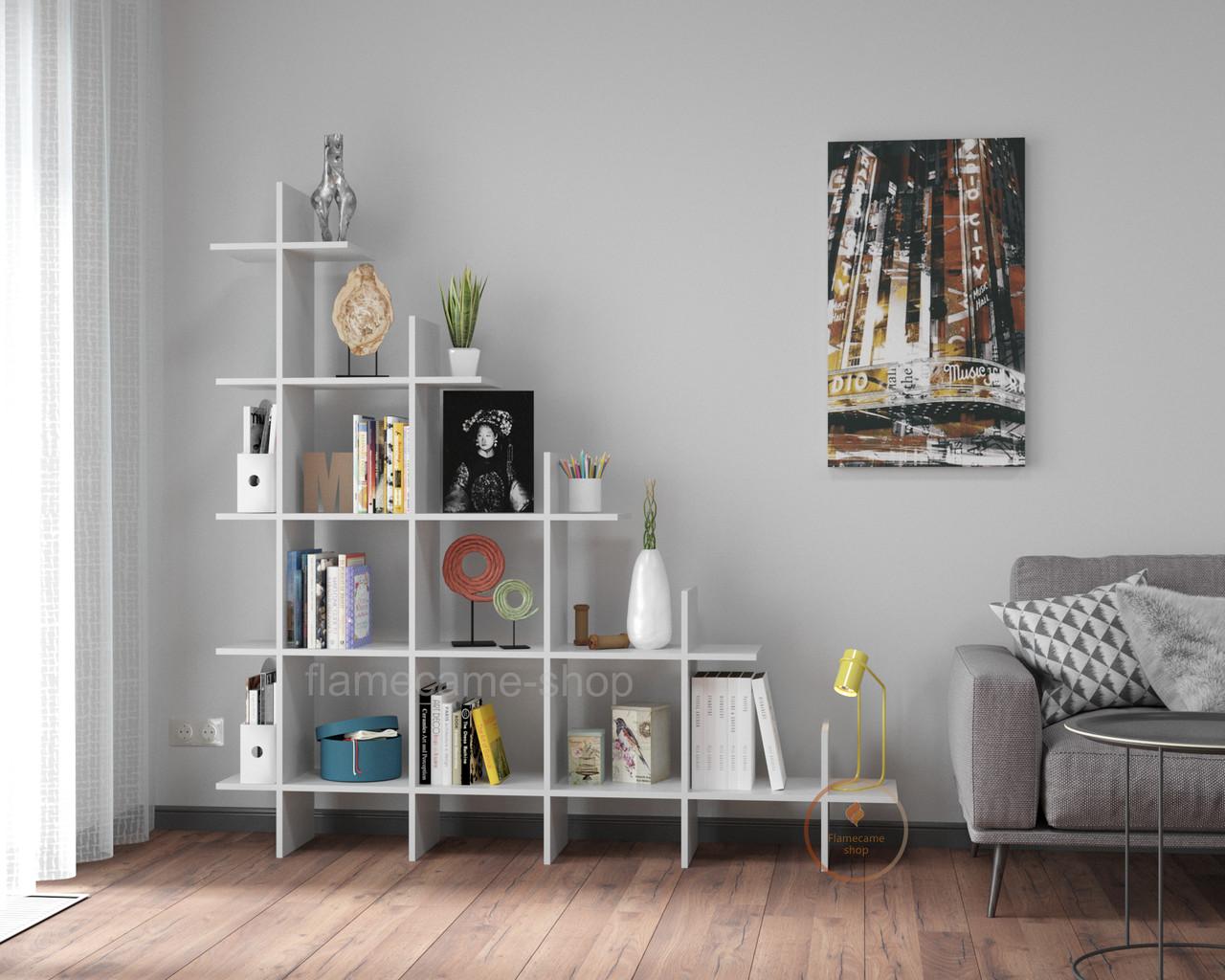 Стелаж для дому і офісу на 16 комірок з поличками з ДСП. Код: VZ-2