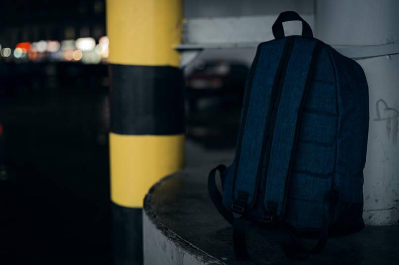 Рюкзак  Nike AIR (Найк) синий меланж, фото 2