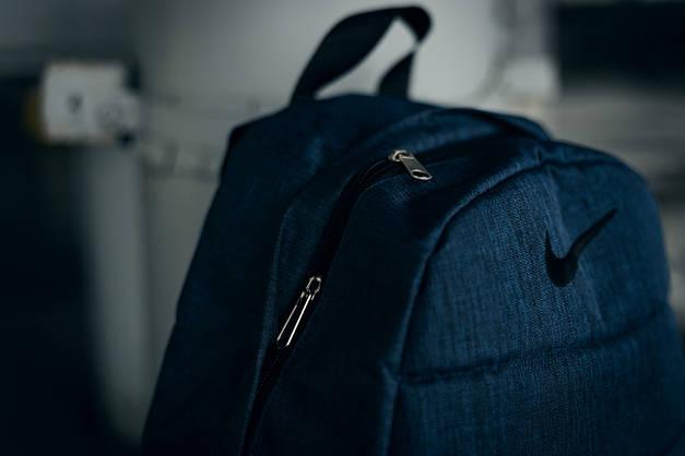 Рюкзак  Nike AIR (Найк) синий меланж, фото 3