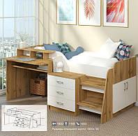 Детская и подростковая кровать-чердак Спейс