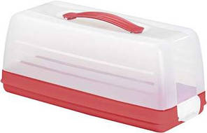 Емкость (тортовница) прямоугольная красная 355Х150Х142 мм Curver CR-00414