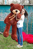 Мишка плюшевый Toys цвета шоколад 180 см