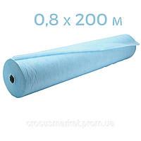 Простынь одноразовая голубая с перф 0,8x200 п.м в рулоне