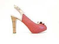 Женские кожаные босоножки на высоком каблуке красивые стильные модные польские 40 размер Kordel 4536 2021
