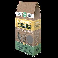 Натуральні цукерки без цукру з Амарантом Груша-Фундук-Кероб, Жива кухня 100 г