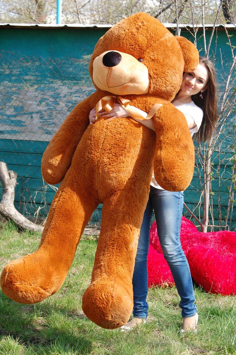 Большой Плюшевый Медведь 180 см Коричневый. Большая Мягкая игрушка Мишка Плюшевый.