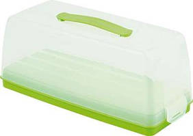 Емкость (тортовница) прямоугольная зеленая 355Х150Х142 мм Curver CR-00414-2
