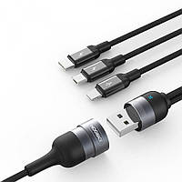 Кабель 3 в 1 Joyroom S-M401 multi-function series round cable 1.5M