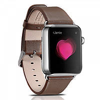 Ремешок кожаный Icarer для Apple Watch Luxury Genuine Leather Series Watchband-38mm (coffee)