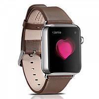 Ремінець шкіряний Icarer для Apple Watch Luxury Genuine Leather Series Watchband-38mm (coffee)