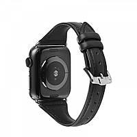 Ремінець шкіряний Hoco WB05 Ocean wave for Apple Watch Series 1\2\3\4 (42\44mm) black, фото 1