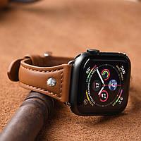 Ремешок кожаный Hoco WB05 Ocean wave for Apple Watch Series 1\2\3\4 (42\44mm) brown, фото 1