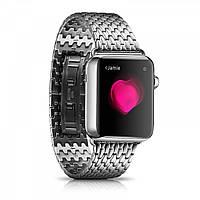 Ремінець Icarer для Apple Watch Armor Stainless Watchband Aeries-38mm (silver), фото 1