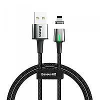 Кабель Baseus Zinc Magnetic Cable USB For iP 2A 1m (Charging) Black, фото 1