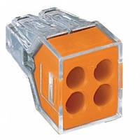 Клемма WAGO COMPACT PUSH WIRE® на 4 провода