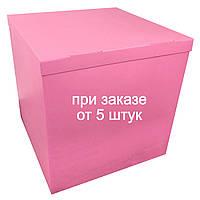 Коробка для шаров 70*70*70см двухсторонняя ярко-розовая, фото 1