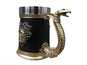 Кружка Чашка Бокал Медуза Горгона  3D  Нержавеющая Сталь