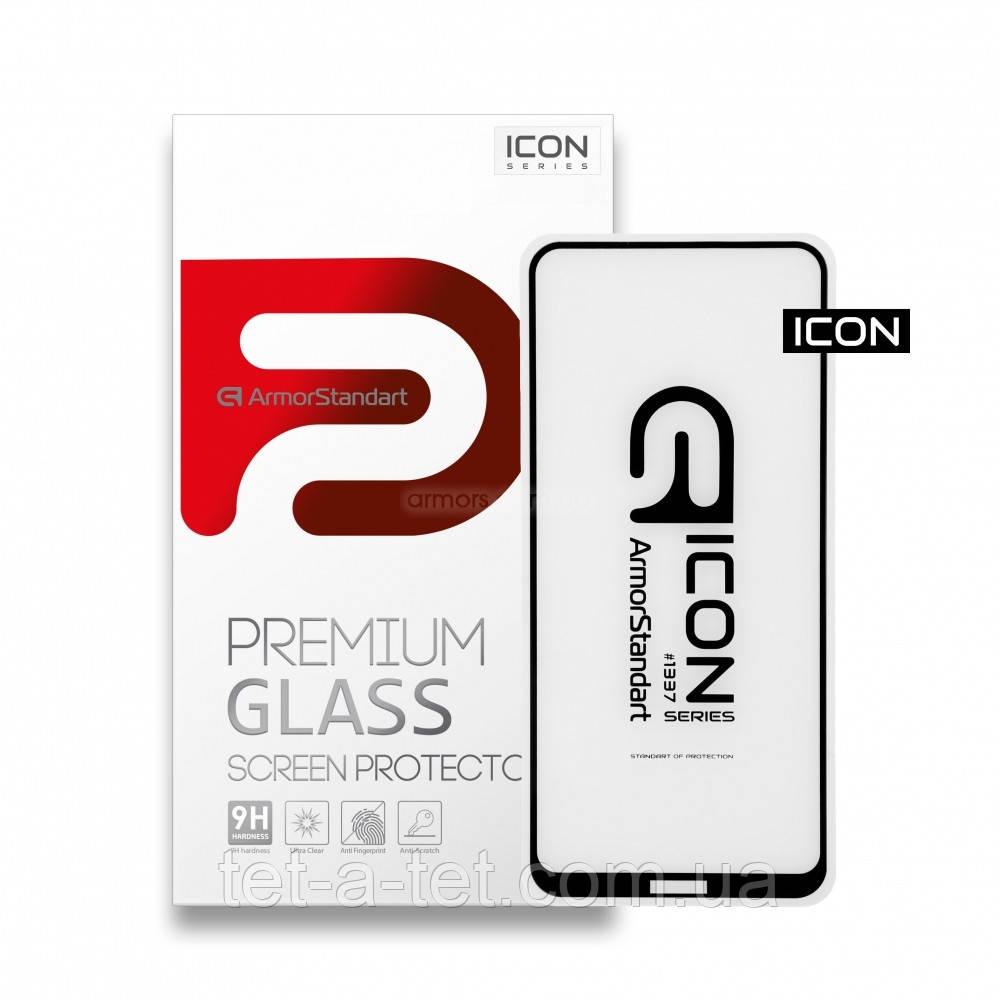 Захисне скло Armorstandart Icon для Nokia 3.4 Black (premium glass)