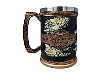 Кружка Чашка Келих Вікінг Воїн Сатана 3D Молот Тора Нержавіюча Сталь, фото 1
