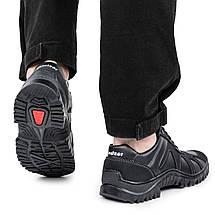 Кроссовки мужские Kindzer черные демисезонные кожзам 40 р. - 26,5 см (1354423436), фото 2