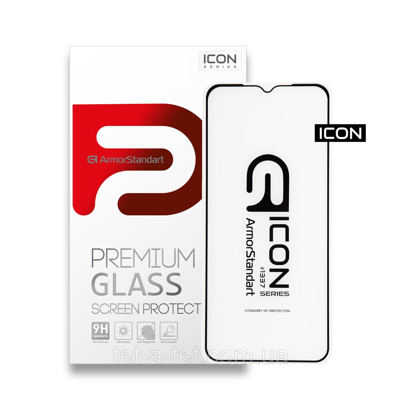Захисне скло Armorstandart Icon для Nokia 5.3 Black (premium glass)